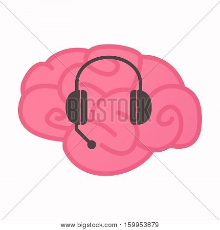 Isolated Brain With  A Hands Free Phone Device