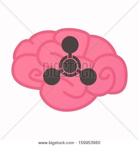 Isolated Brain With A Chemical Weapon Sign