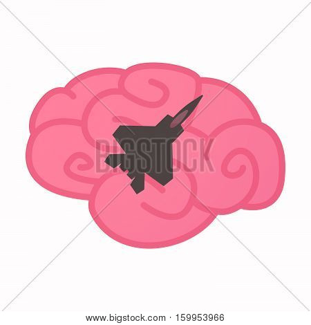 Isolated Brain With A Combat Plane