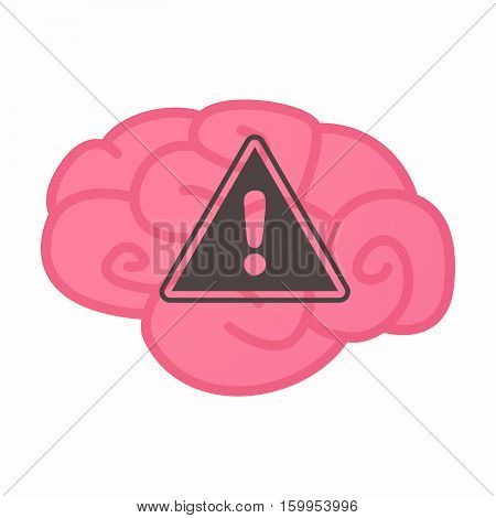 Isolated Brain With A Warning Signal