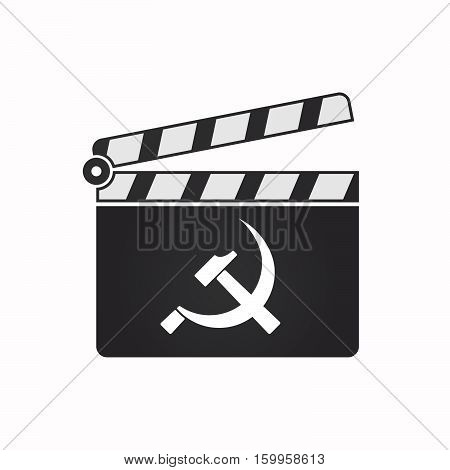 Isolated Clapper Board With  The Communist Symbol