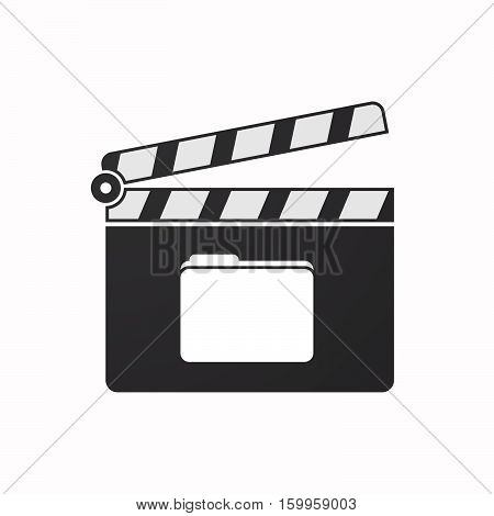 Isolated Clapper Board With A Folder