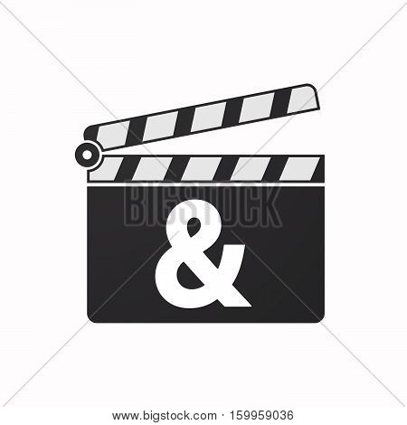 Isolated Clapper Board With An Ampersand