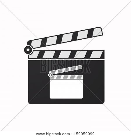 Isolated Clapper Board With A Clapperboard