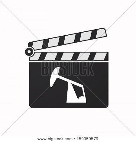 Isolated Clapper Board With A Horsehead Pump