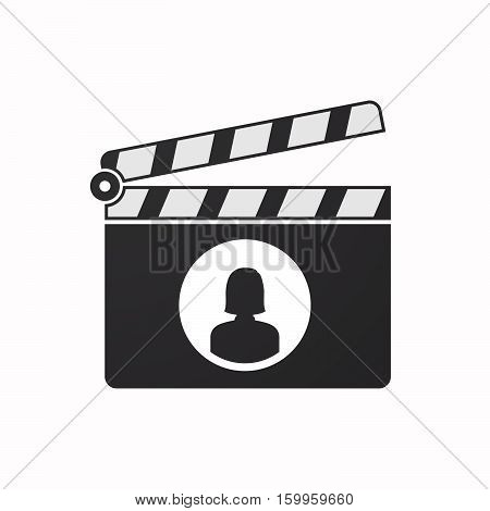 Isolated Clapper Board With A Female Avatar