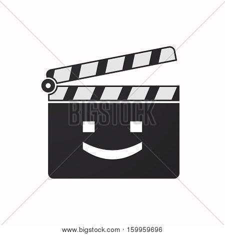 Isolated Clapper Board With A Smile Text Face