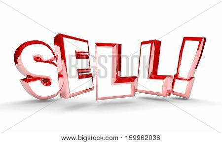 Sell Sales Word Deal Agreement New Customer 3d Illustration