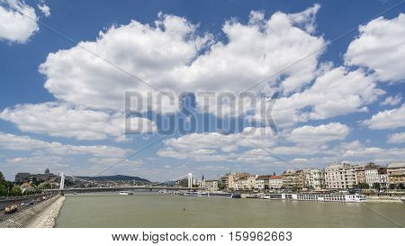 Budapest Cityscape With Beautiful Cloudscape , Hungary