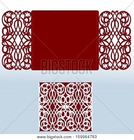 Card for laser cutting vs die cutting. Laser Cut wedding invitation card