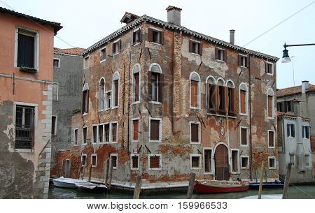 interesting building in Venice the city of water Italy