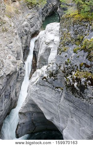 Maligne Canyon Near Jasper In Canada