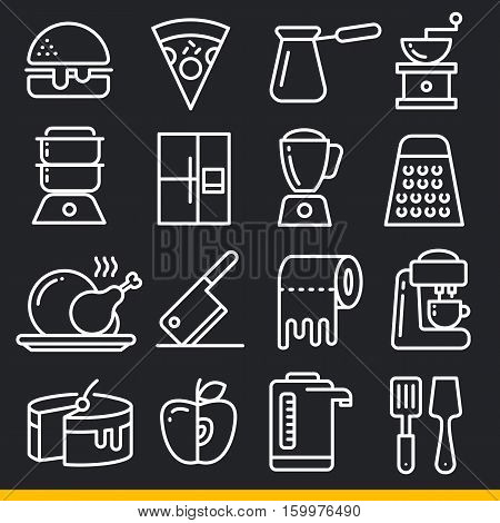 Vector icon lines trend  sign isolated black