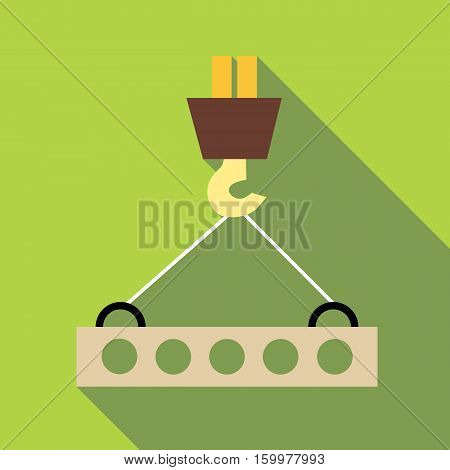 Hook from crane icon. Flat illustration of hook from crane vector icon for web