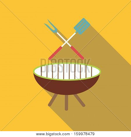 Barbecue icon. Flat illustration of barbecue vector icon for web
