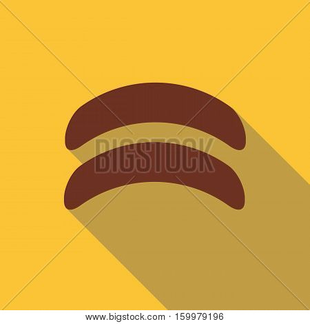 Sausage icon. Flat illustration of sausage vector icon for web