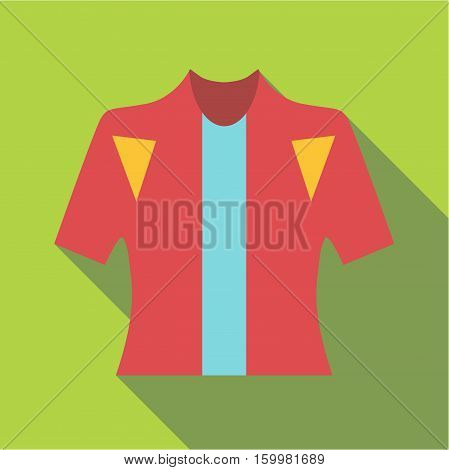 T-shirt for cyclists icon. Flat illustration of t-shirt for cyclists vector icon for web