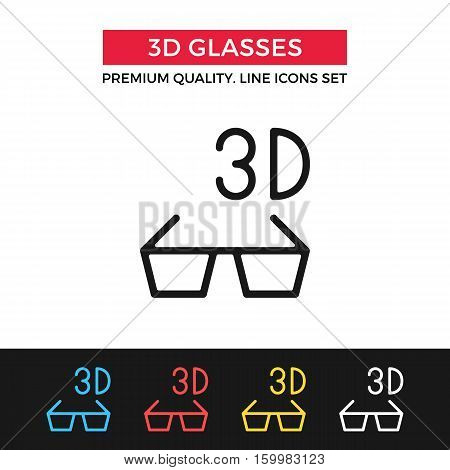 Vector 3D cinema icon. Contemporary cinema. Premium quality graphic design. Modern signs, outline symbols collection, simple thin line icons set for websites, web design, mobile app, infographics