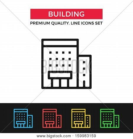 Vector building icon. Premium quality graphic design. Modern signs, outline symbols collection, simple thin line icons set for websites, web design, mobile app, infographics