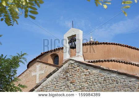 church of Santa Fosca dome and belfry in the island of Torcello near Venice