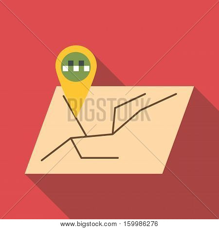 GPS navigation icon. Flat illustration of GPS navigation vector icon for web