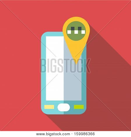 Geo taxi icon. Flat illustration of geo taxi vector icon for web