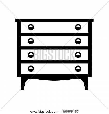 Dresser with four drawers ( shade picture )