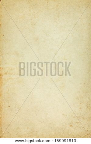 Aged stained textured bright blank paper background