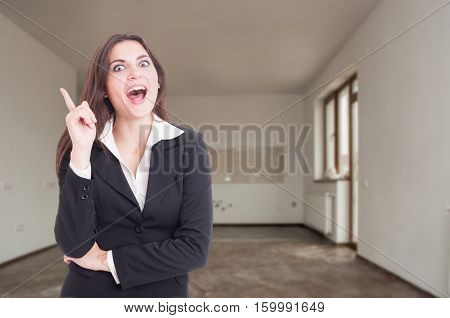 Excited Female Realtor Having A Great Idea