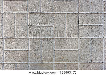 Concrete Or Cobble Gray Pavement Slabs Or Stones.