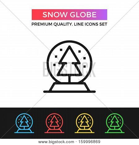 Vector snow globe icon. Christmas concepts. Premium quality graphic design. Modern signs, outline symbols collection, simple thin line icons set for websites, web design, mobile app, infographics