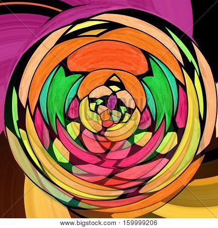 bstract modern art swirl background - full spectrum colored - mosaic