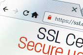 Https url address and lock symbol during SSL connection poster