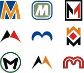 Alphabetical Logo Design Concepts. Letter M. Check my portfolio for more of this series. poster