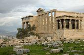 Caryatid Porch of Erechtheum at Akropolis. Athens Greece poster