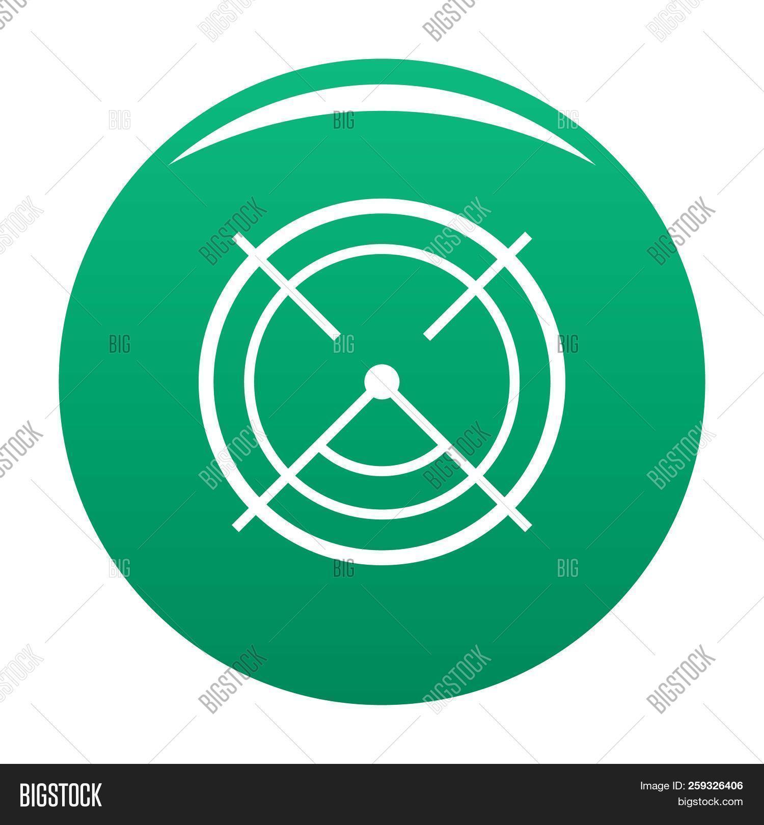Aim Radar Icon Simple Image Photo Free Trial Bigstock