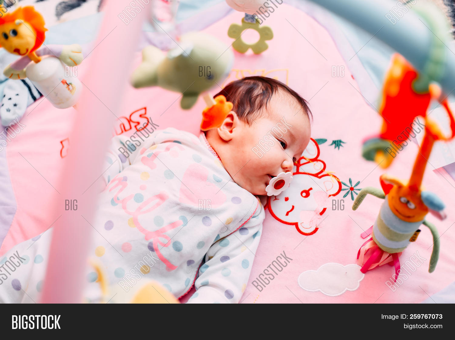 Cute baby girl on image photo free trial bigstock