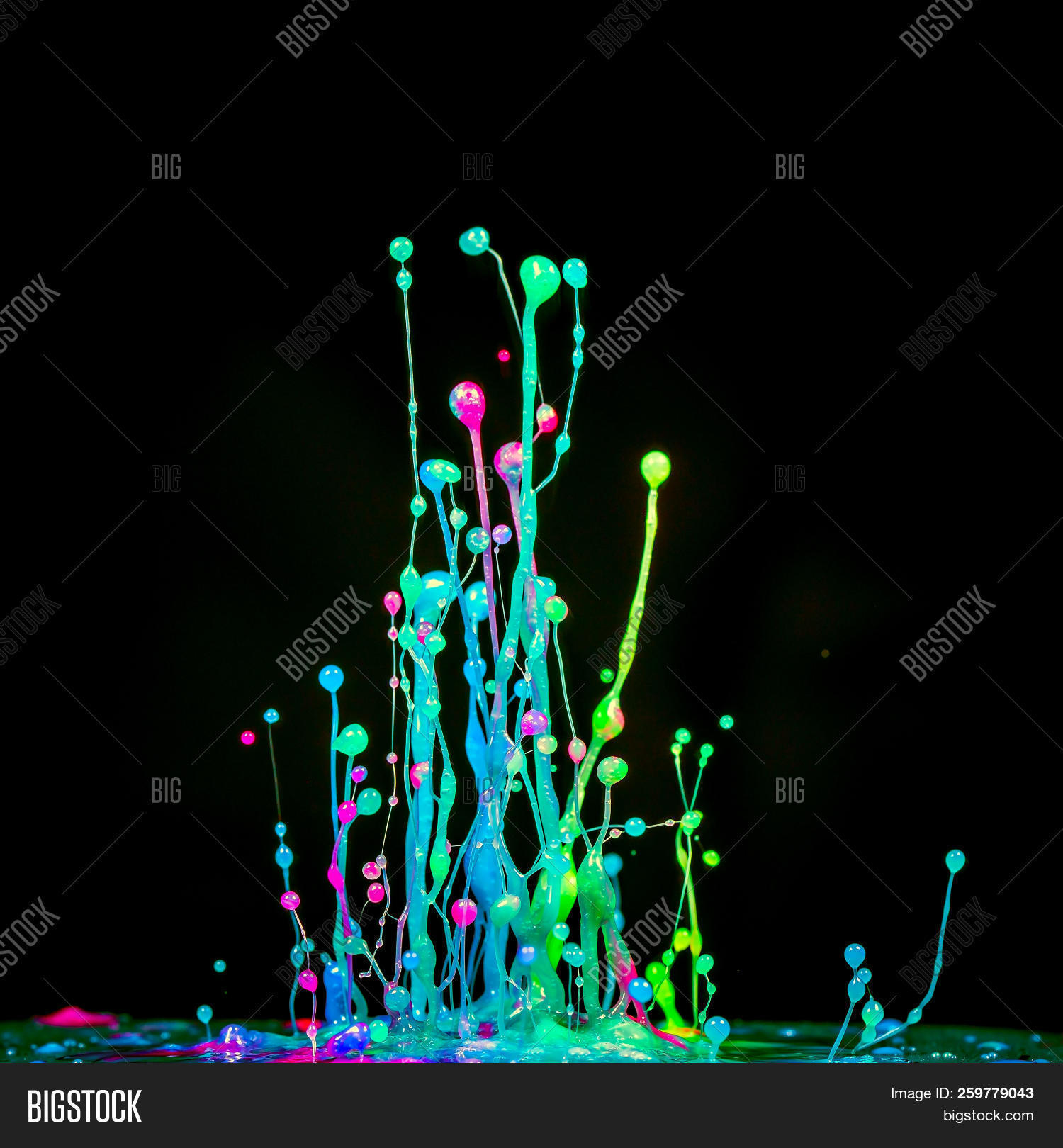 Splash Color Fluid Ink Image Photo Free Trial Bigstock