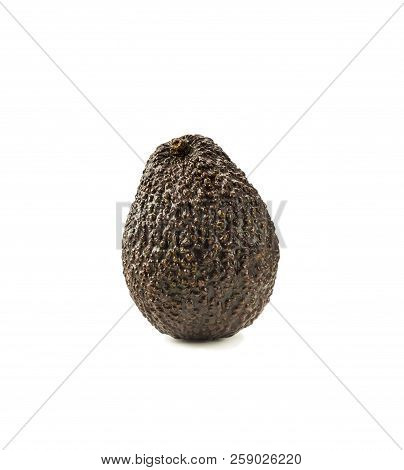 Isolated Avocado. Cut Avocado Fruit Isolated On White Background. Avocado With Copy Space For Text.