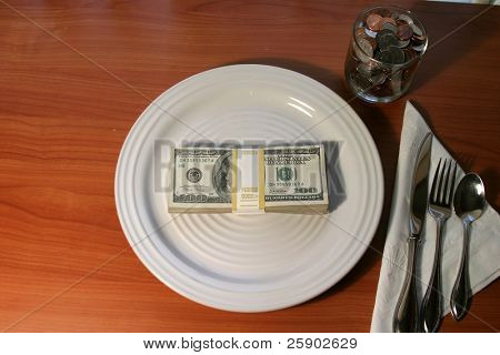$10,000.00 a plate dinner fundraiser concept