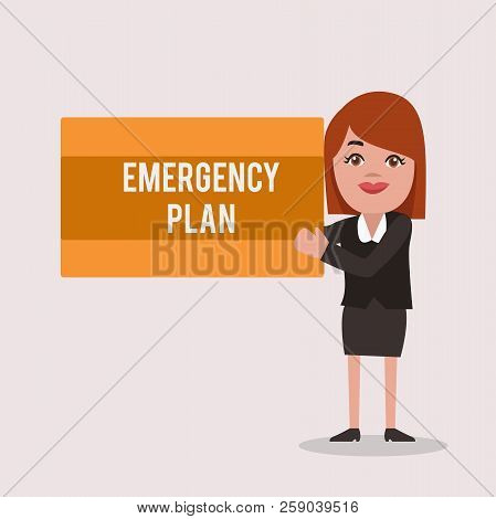 Handwriting Text Emergency Plan. Concept Meaning Procedures For Response To Major Emergencies Be Pre