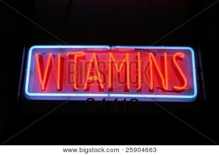 Neon Sign series  vitamins