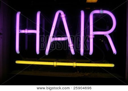 Neon Sign series  Hair