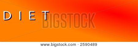 Diet Orange  Horizontal  Banner