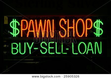 "neon sign series ""pawn shop"" ""buy-sell-loan"" poster"