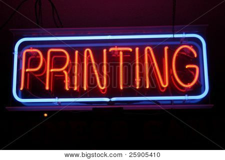 "Neon Sign Series ""printing"" poster"