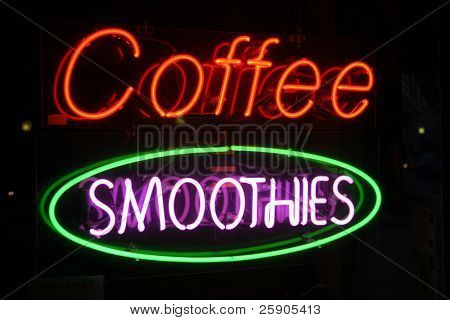 "Neon Sign Series ""coffee smoothies"" poster"