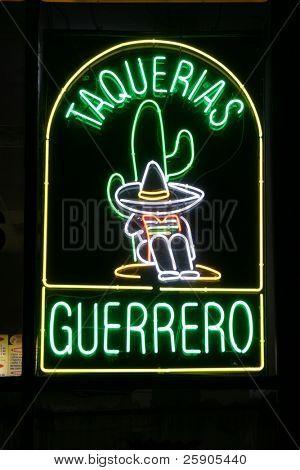 "Neon Sign Series ""taquerias guerrero"" poster"
