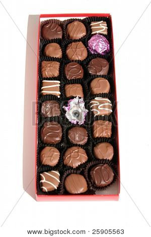 """""""Eye Candy"""" Series a box of mixed choclates with a Real Antique Glass Eye in place of one of the choclates"""