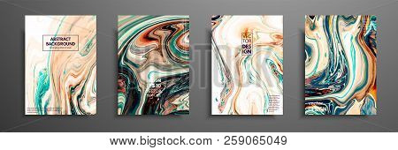 Swirls Of Marble Or The Ripples Of Agate. Liquid Marble Texture. Fluid Art. Applicable For Design Co